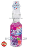 Sangaria Ramune Carbonated Soft Drink Grape Flavor 200ml Glass Bottle