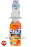Sangaria Ramune Carbonated Soft Drink Orange Flavor 200ml Glass Bottle