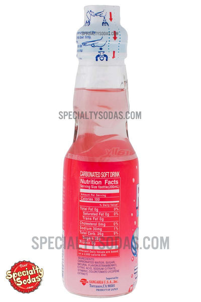 Sangaria Ramune Carbonated Soft Drink Strawberry Flavor