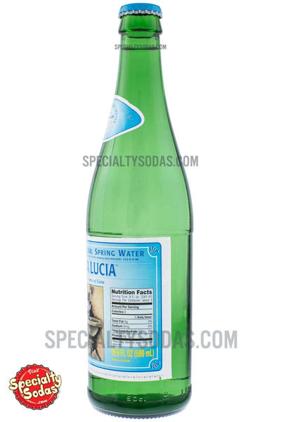 Santa Lucia Sparkling Natural Spring Water 500ml Glass