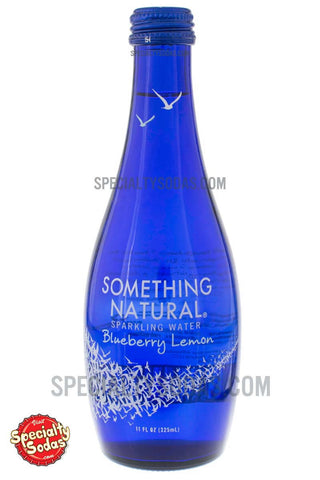 Something Natural Blueberry Lemon Sparkling Water 11oz Glass Bottle