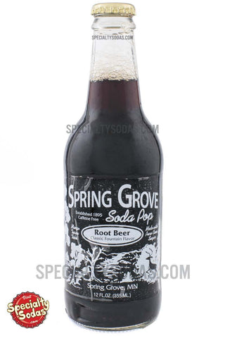 Spring Grove Root Beer 12oz Glass Bottle