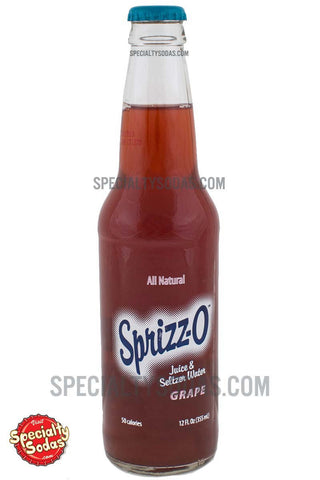 Sprizz-O Grape Juice & Seltzer Water 12oz Glass Bottle
