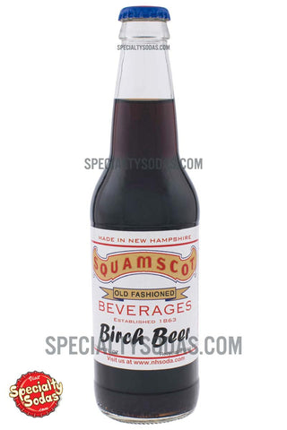Squamscot Old Fashioned Birch Beer 12oz Glass Bottle