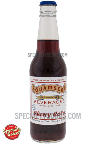 Squamscot Old Fashioned Cherry Cola 12oz Glass Bottle