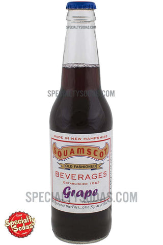 Squamscot Old Fashioned Grape Soda 12oz Glass Bottle