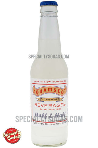 Squamscot Old Fashioned Half & Half Soda (Lemon & Grapefruit) 12oz Glass Bottle