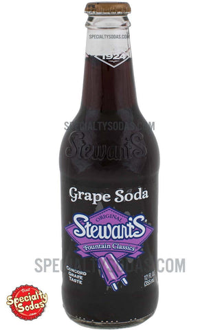 Stewart's Fountain Classics Original Grape Soda 12oz Glass Bottle