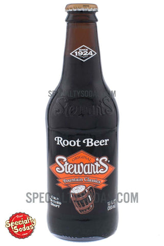 Stewart's Fountain Classics Original Root Beer 12oz Glass Bottle