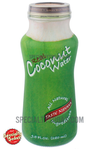 Taste Nirvana Real Coconut Water 9.5oz Glass Bottle