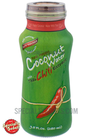 Taste Nirvana Real Happy Coconut Water with Thai Chili Extract 9.5oz Glass Bottle