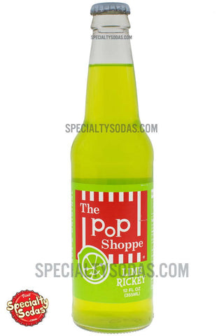 The Pop Shoppe Lime Ricky Soda 12oz Glass Bottle