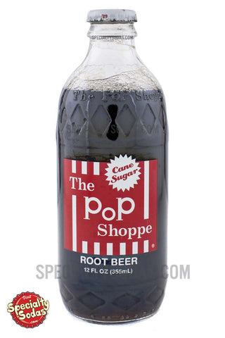 The Pop Shoppe Root Beer 12oz Glass Bottle