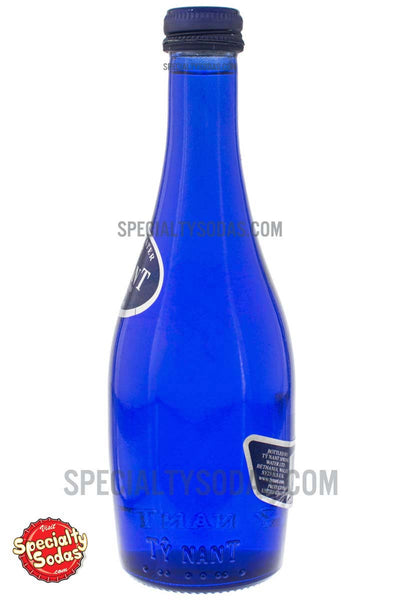 Ty Nant Carbonated Spring Water 11oz Blue Glass Bottle