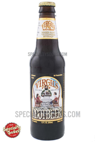 Virgil's Micro Brewed Root Beer 12oz Glass Bottle