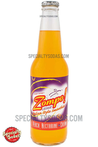 Zompo! Italian Style Smoothie Peach Nectarine & Mango 12oz Glass Bottle