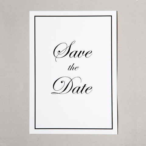 Classic Save the Date till bröllop