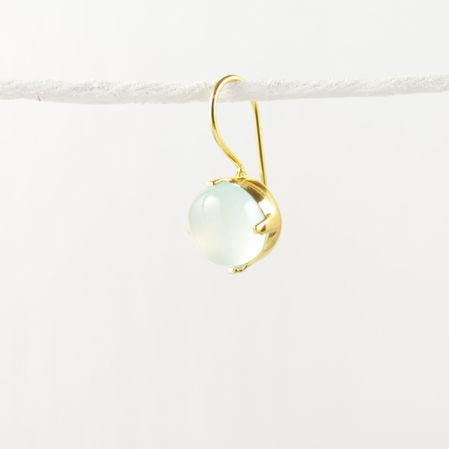 Sorbet Milky Aquamarine Earrings Gold  Connie And Vi  1
