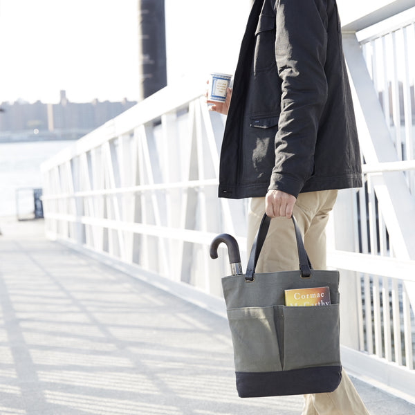 COMMUTER TOTE - Charcoal/Natural