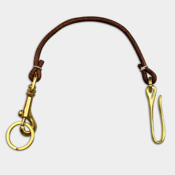KEY LANYARD - Brown