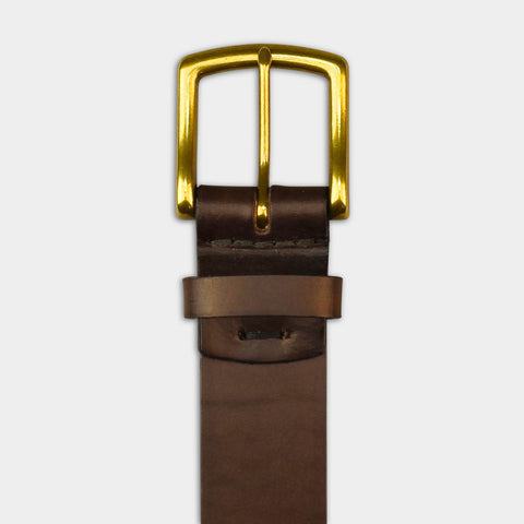 WIDE ARCH BUCKLE BELT - Brown