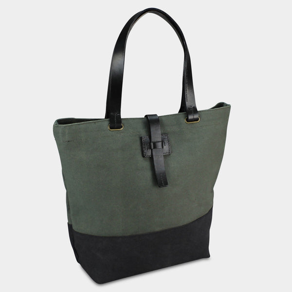 LARGE URBAN TOTE - Olive/Black