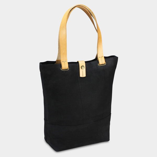 SMALL URBAN TOTE - Charcoal/Natural