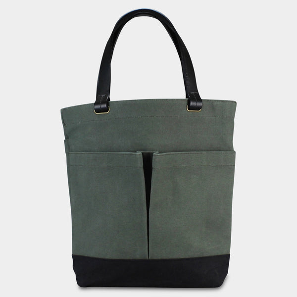 COMMUTER TOTE - Olive/Black