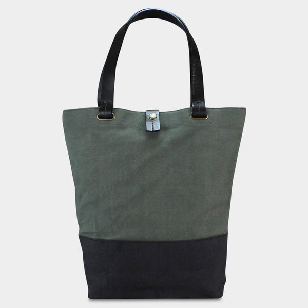 SMALL URBAN TOTE - Olive/Black