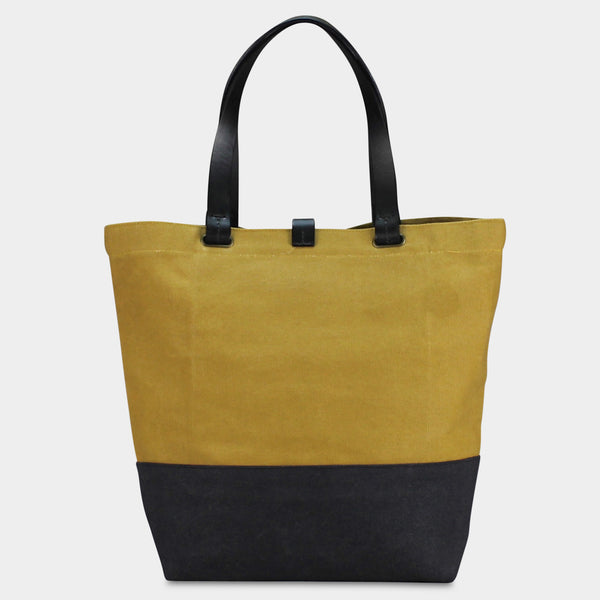 LARGE URBAN TOTE - Mustard/Black