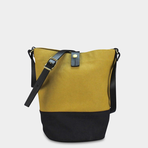 BUCKET BAG - Mustard/Black