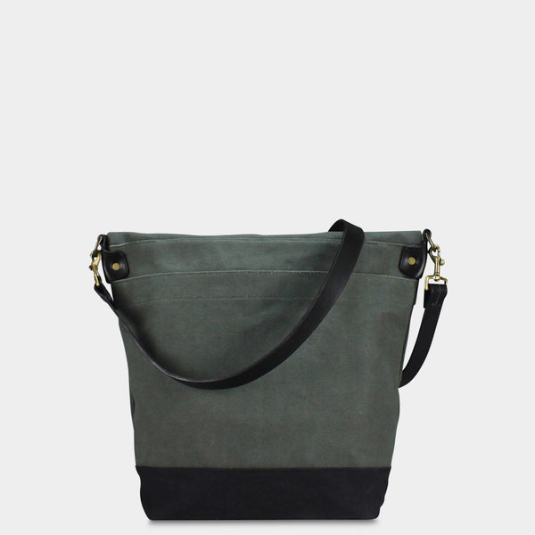 SMALL MESSENGER BAG - Olive/Black