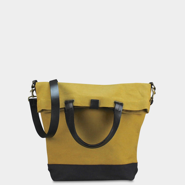 SMALL MESSENGER BAG - Mustard/Black