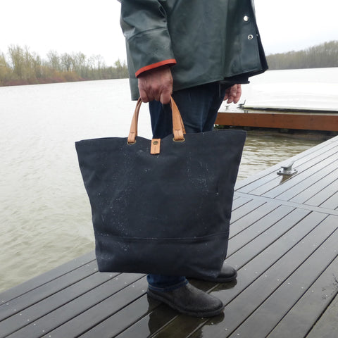 CARGO TOTE - Charcoal/Natural