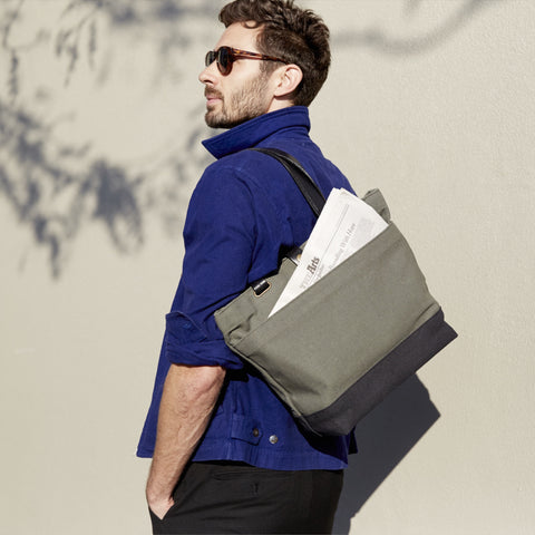 UTILITY TOTE - Charcoal/Natural