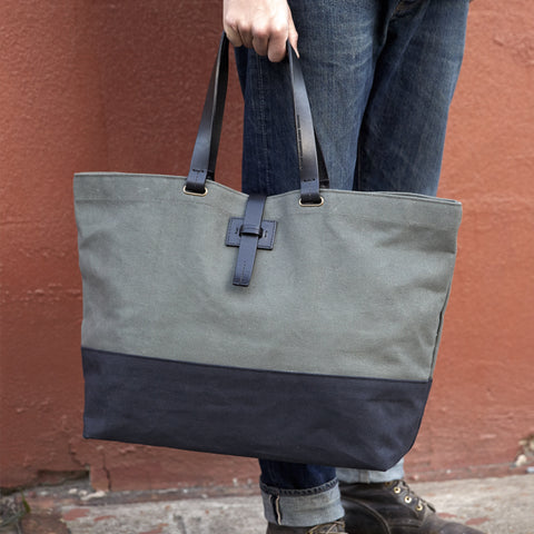 WEEKENDER TOTE - Charcoal/Natural