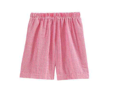 Boy's red seersucker shorts (9m)