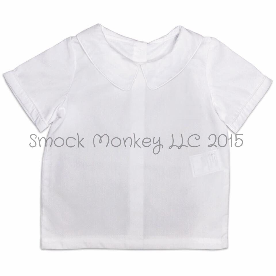 Boy's peter pan collar short sleeve shirt (9m)