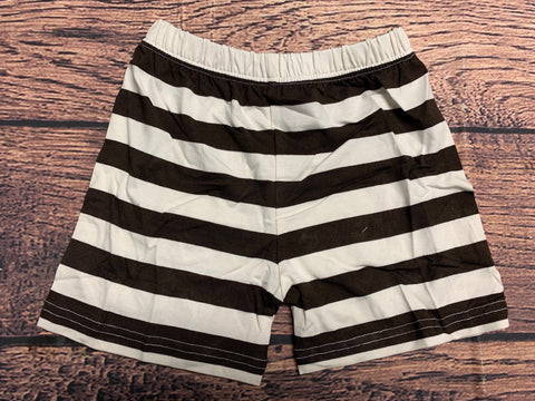 Boy's brown striped knit shorts (2t,5t,6t)