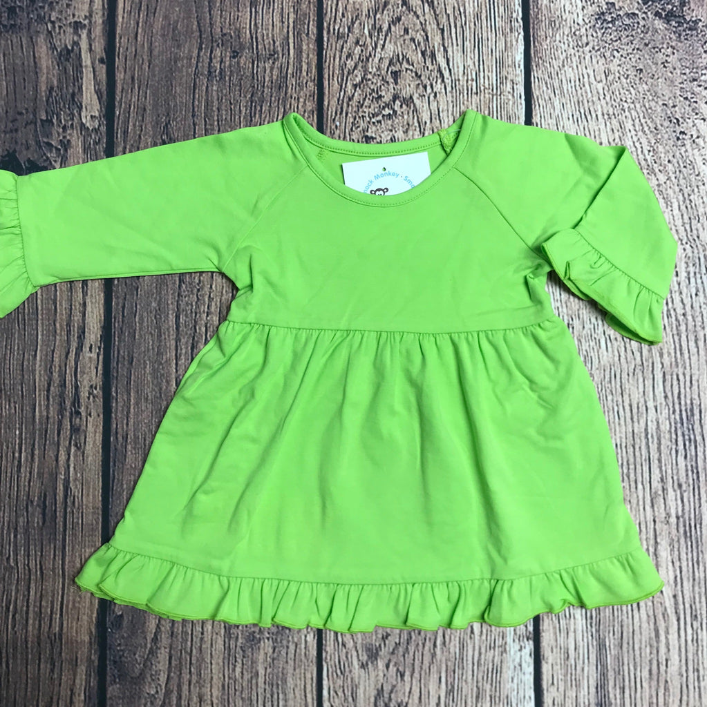Girl's ST lime green maddie swing top (18m,2t,3t)