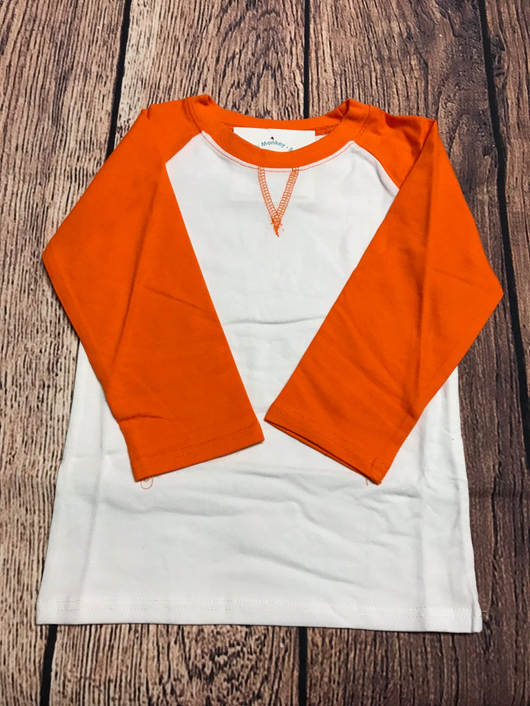 Girl's ST Baseball Tee with Tangerine Sleeves (4t,5t,6t)