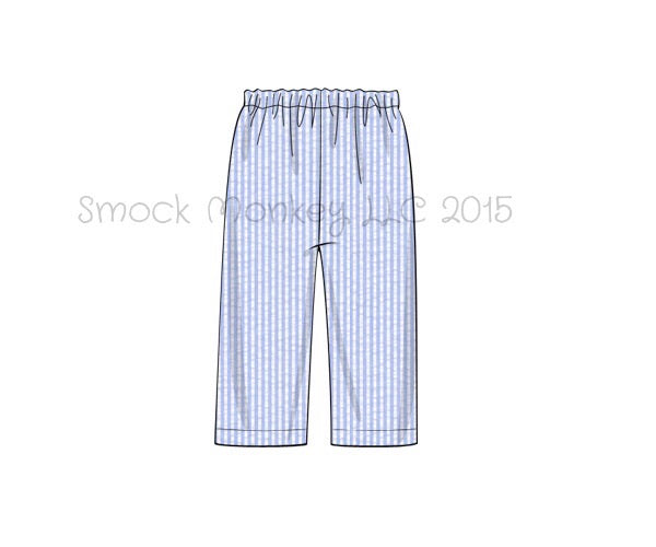 Boy's blue seersucker pants (3m,9m,18m,24m,7t,8t)