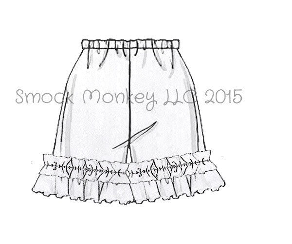 Girl's WHITE knit ruffle shorts (3m,6m)