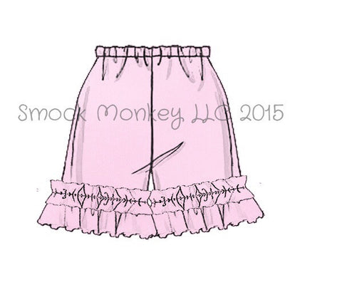 Girl's LIGHT PINK knit ruffle shorts (3m)