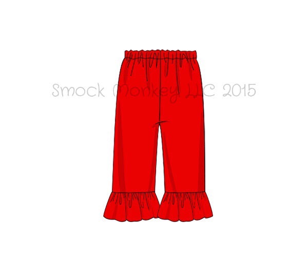 Girl's red knit ruffle pants (10t)