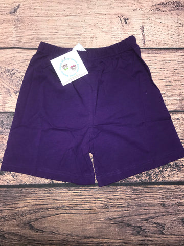 Boys PURPLE knit shorts (6m,7t)