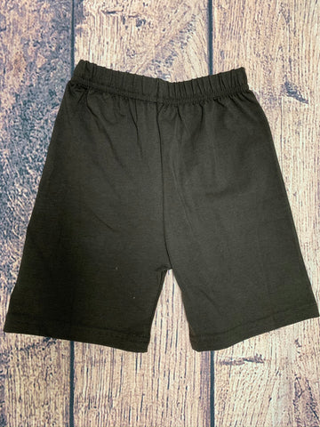 Boys BROWN knit shorts (2t)