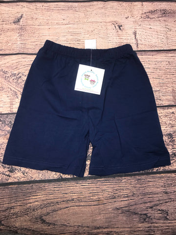 Boys NAVY knit shorts (18m,24m,8t,10t)