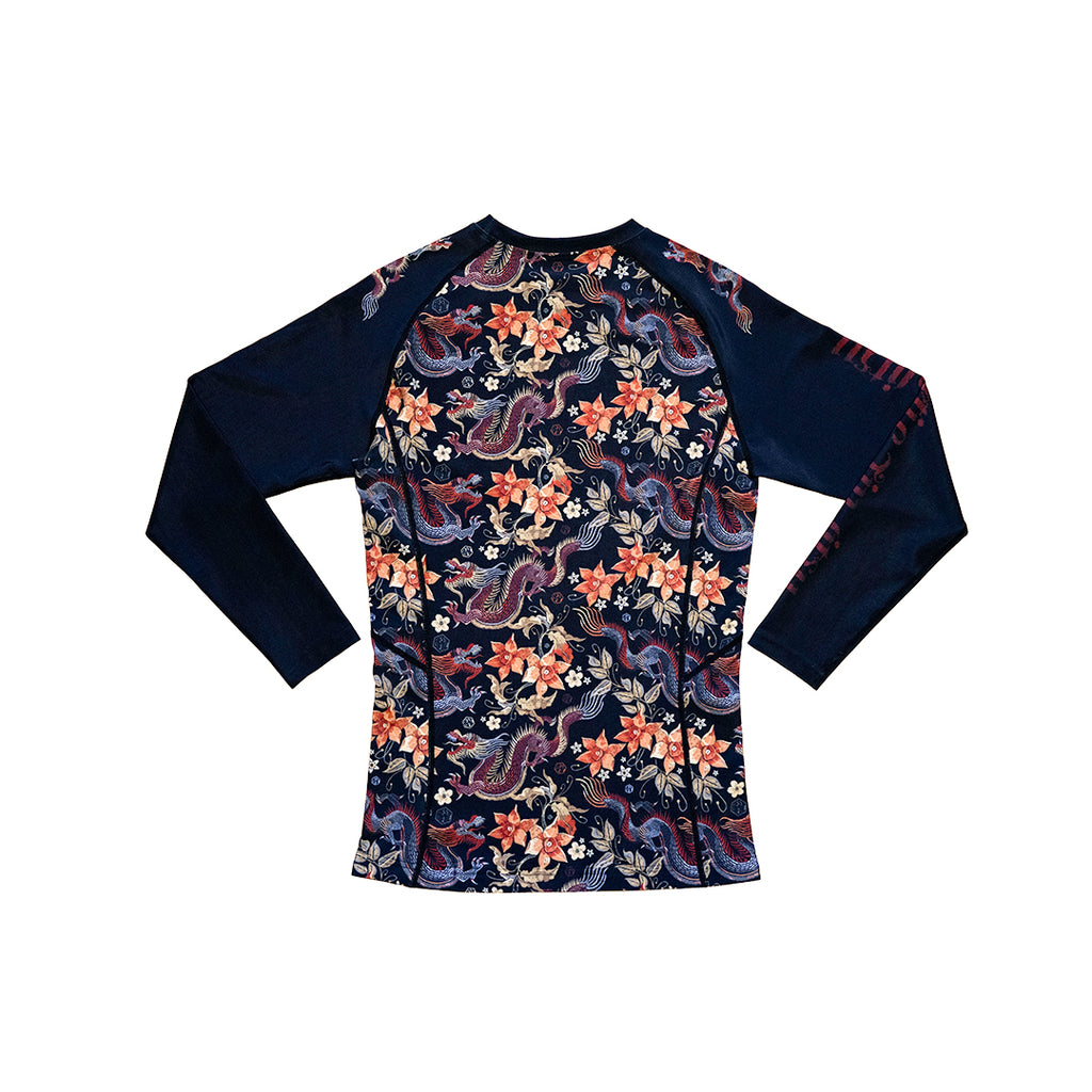 DRAGON FLORAL LONG SLEEVE RASHGUARD