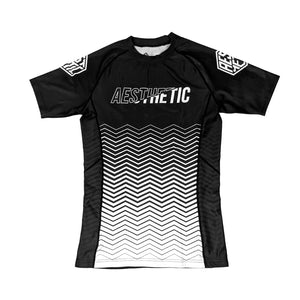 2019 RANKED RASHGUARD - WHITE / BLACK